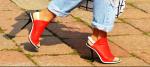 Red Mule Heels