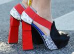 Red Snakeskin Heels
